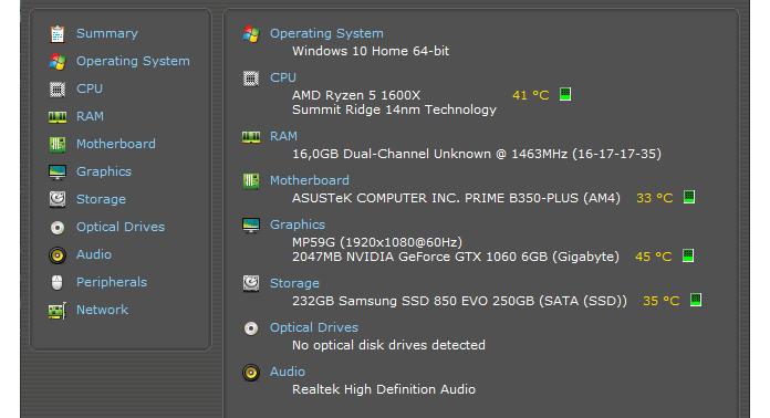 Ποια είναι τα τεχνικά χαρακτηριστικά του υπολογιστή μου;